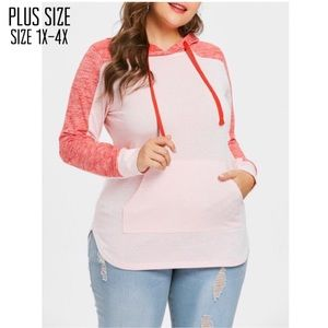 Tops - Plus Size Two Toned Hoodie